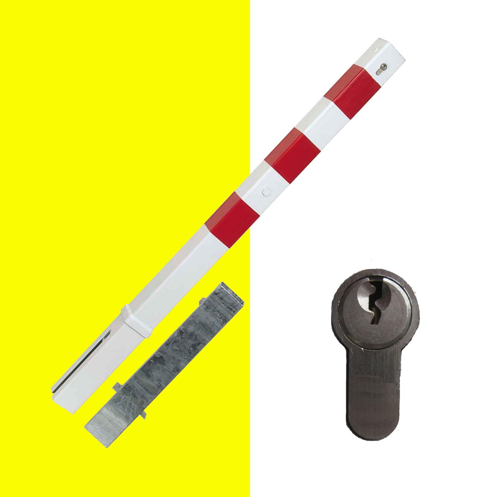 Absperrpfosten, Feuerwehrpfosten, 70 x 70 mm herausnehmbar, Profilzylinderschloß