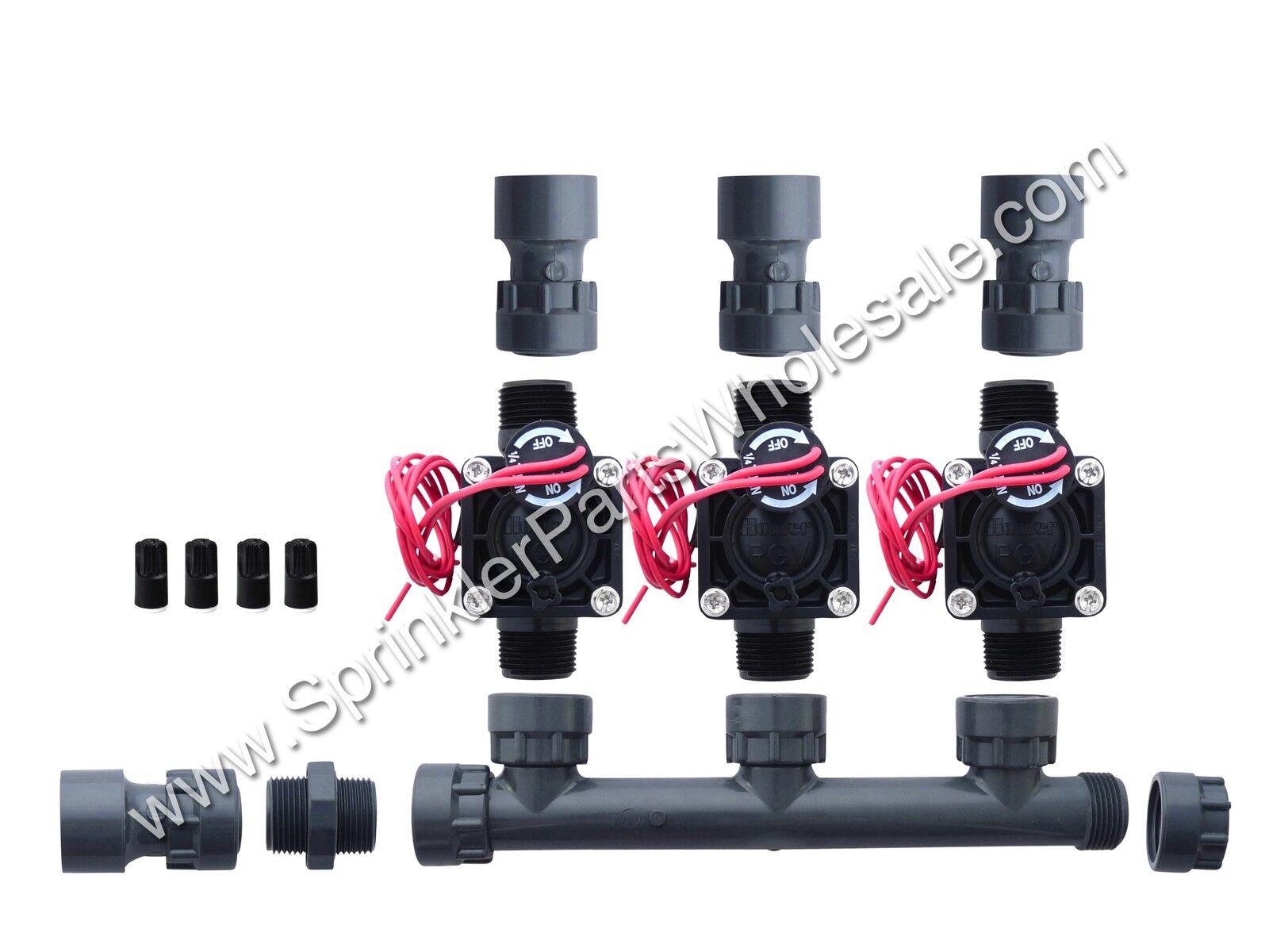 Hunter pgv100-mm 3 Zona Dura colector Válvula Kit N ° Control de flujo-Slip 301-010-3