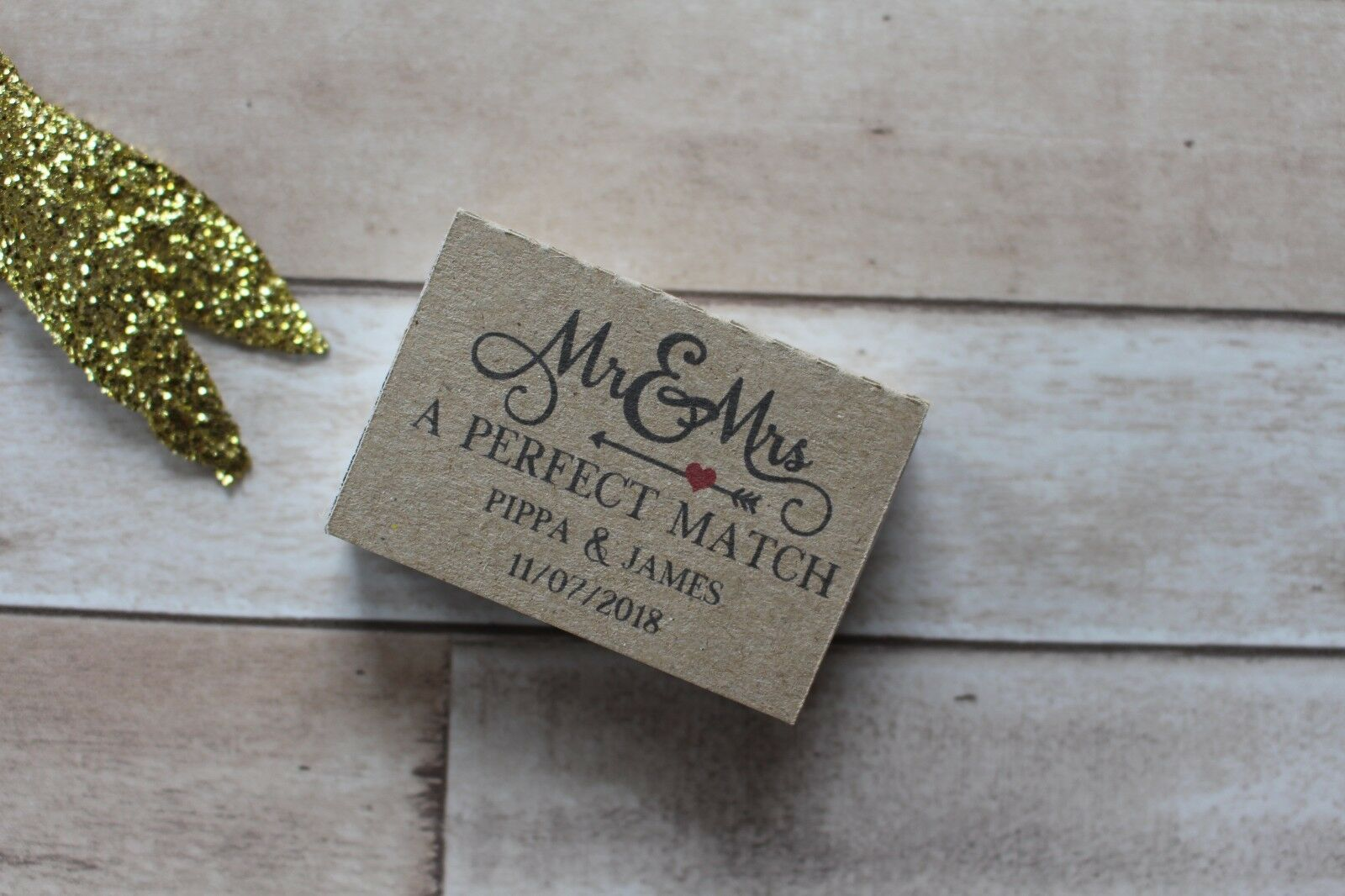 Personalised Wedding matchbox favours-The favours-The favours-The Perfect Match-Mr & Mrs e555ab