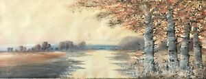 Sous-bois-aquarelle-en-automne-signee-illisible-XIXe-France