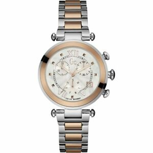 Guess-GC-Y05002M1-Lady-Chic-Women-039-s-Watch-Rose-Gold-Silver-Stainless-Steel