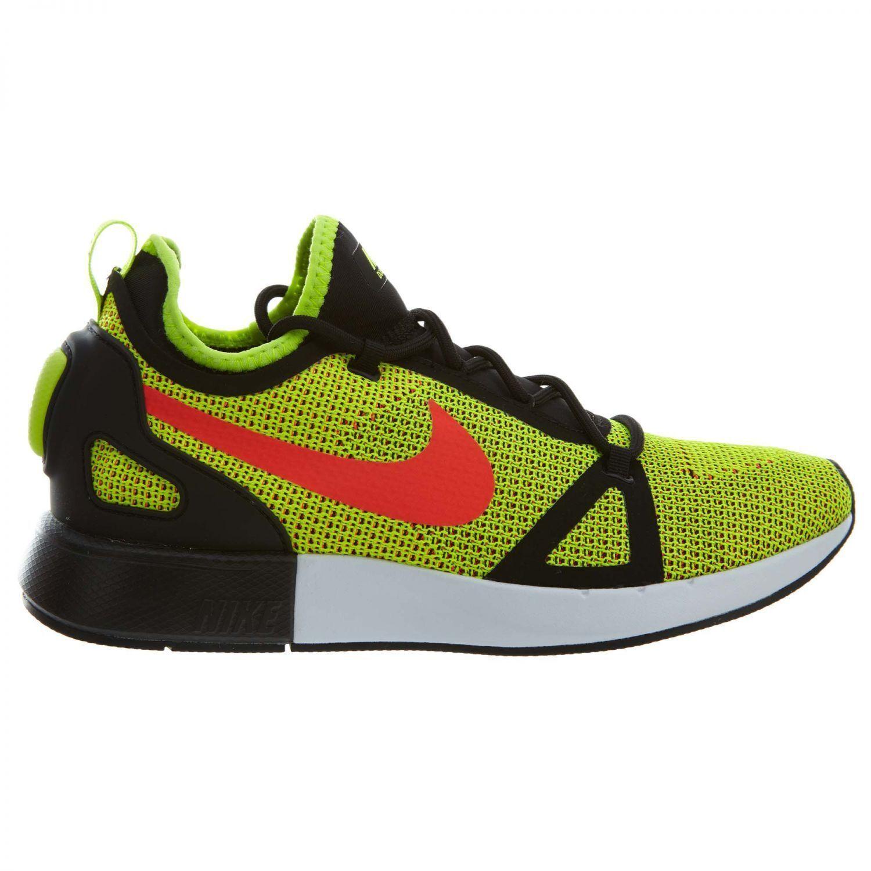 Nike Duel Racer Mens 918228-700 Volt Black Crimson Knit Running Shoes Size 11