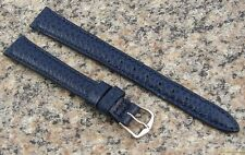 12mm Authentic HAMILTON BLUE Stingray Grain Leather Watch Band NOS Strap #H48