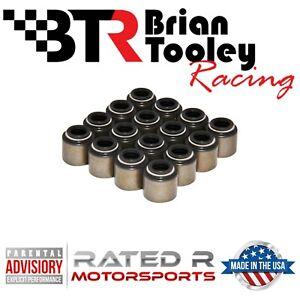 Brian-Tooley-BTR-LS-Intake-Exhaust-Valve-Stem-Seal-Kit-Set-of-16-Black-5-3L-6-0L