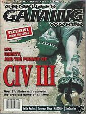 Computer Gaming World Magazine May 2001 Civilization III Battle Realms Nascar 4
