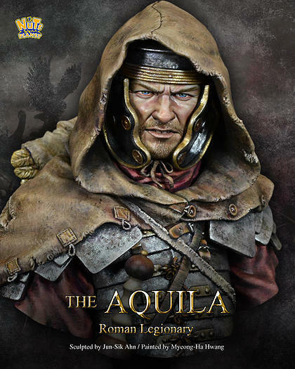 Nuts Planet, The Aquila Roman Legion 1 10th scale scale scale unpainted resin bust kit NIB 539244