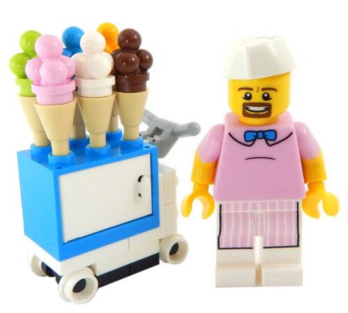NEW LEGO ICE CREAM CART LOT minifigure man minifig figure cone scoops good humor