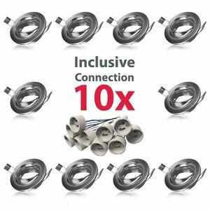 Einbaurahmen-Einbau-Strahler-10x-Spots-GU10-Einbauringe-Rahmen-Decke-Gehaeuse-LED