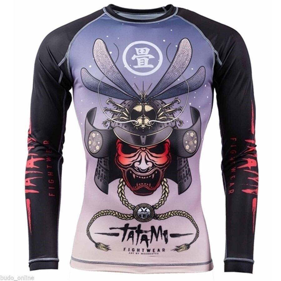 Tatami Dragon Fly V2 Rash Guard Long Sleeve MMA BJJ Compression Top Gym Mens