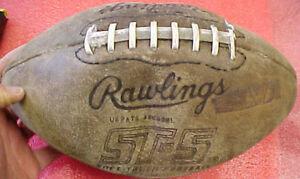 T-Vintage-Leather-Rawlings-NCAA-football-ST-5-bar-decor