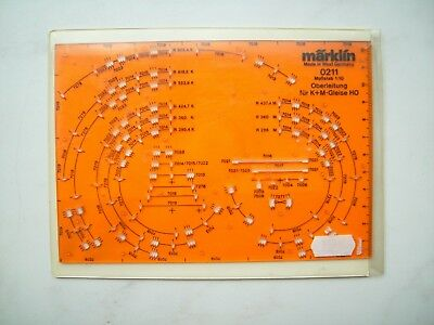 """Märklin Ho """"catenaria-stencil"""" Per K + M Binario Scala 1:10 Art. Nr: 0211 Ovp-hablone """" Für K+m Gleis Maßstab 1:10 Artnr: 0211 Ovp It-it Mostra Il Titolo Originale Rendere Le Cose Convenienti Per Le Persone"""
