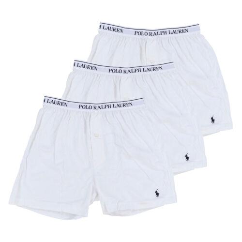 Polo Ralph Lauren Mens Underwear 3 Pack Classic Fit Cotton Knit Boxers Pony Logo
