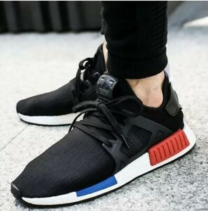 the best attitude 3673c 4c869 Details about Adidas NMD_XR1 2017 PK Primeknit US Sz 9 US Black Blue Red  Originals BY1909