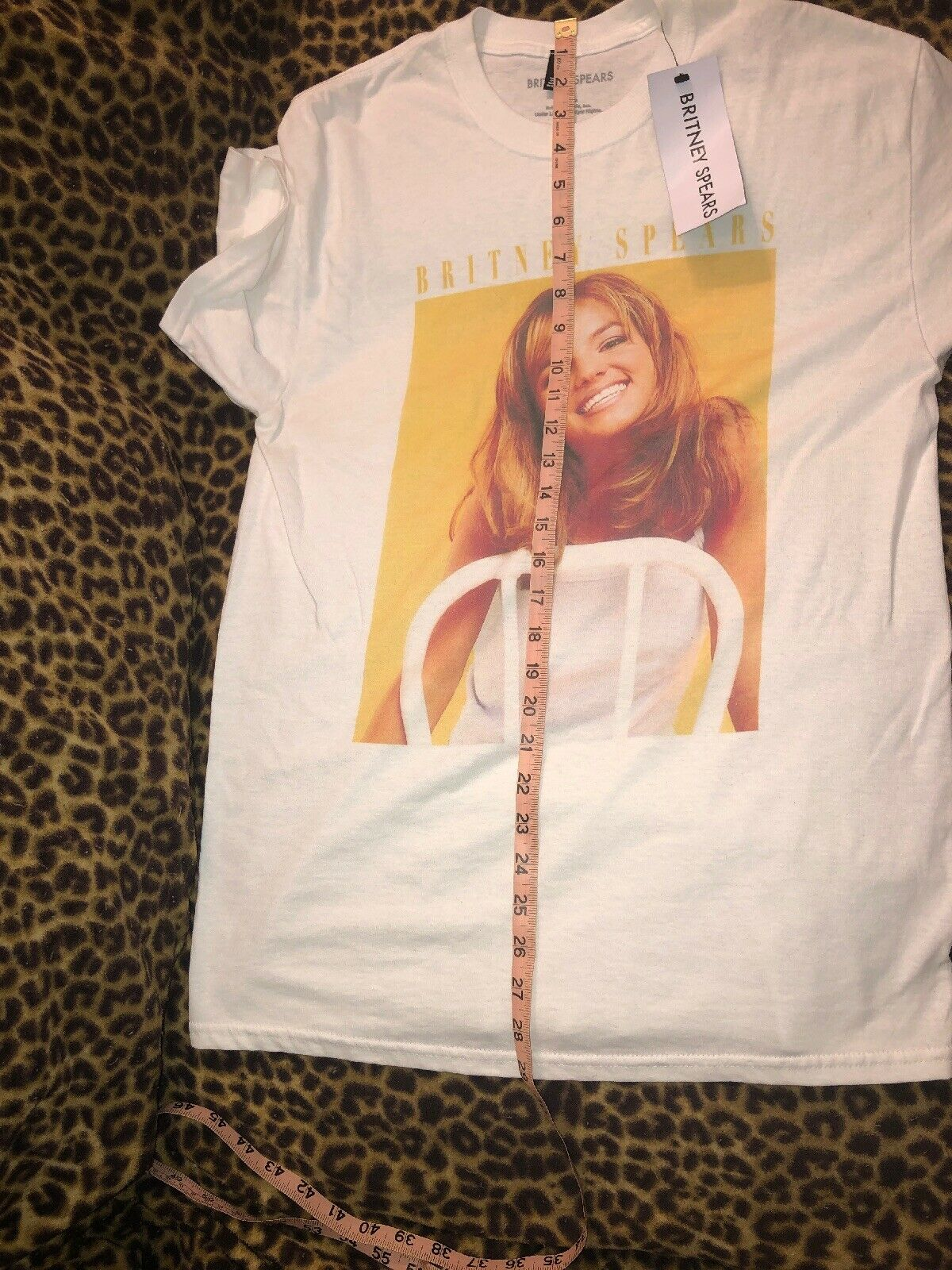 TOPSHOP BRITNEY SPEARS T-SHIRT TOP SIZE SMALL - image 3