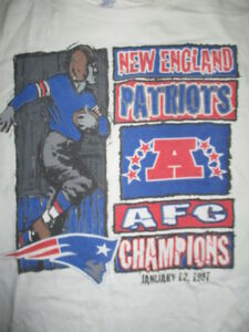 finest selection 5a361 66b3e Details about Starter NEW ENGLAND PATRIOTS January 12, 1997 AFC Champions  (LG) T-Shirt