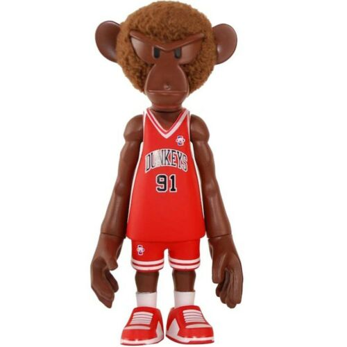 MINDstyle X CoolRain NBA Dunkey #91 simius 5 in environ 12.70 cm Figure Brown Rodman Rouge