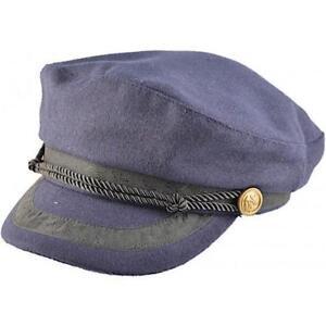 bon marché recherche d'officiel livraison gratuite Détails sur Grec Pêcheur Breton Style Capitaine Casquette Chapeau Bleu  Marine