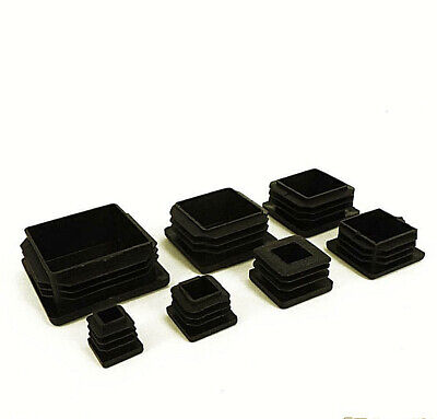 10x Black Plastic Blanking End Caps Cap Insert Plugs Bung For Round Pipe Tube bz