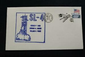 Space-Cover-1973-con-Vista-Annullo-Postale-SKYLAB-4-3RD-Manned-Missione-Launch