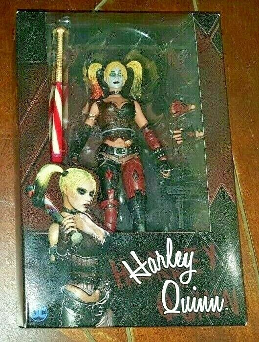 NIP NECA Reel Toys DC Batman Arkham City  HARLEY QUINN 6  Action Figure