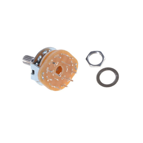 Guitar Amplifier Channel Band Rotary Switch Selector RS25 3 Pole 4 Position $TTB