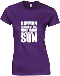 Dayman-Fighter-Of-The-Nightman-Ladies-Printed-T-Shirt-Casual-Soft-Tee-Women-Top