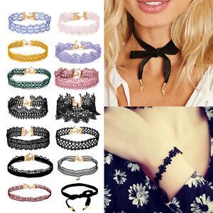 Gothic-Black-Lace-Retro-Choker-Collar-Necklace-Jewelry-Lace-Flower-Pendant