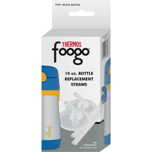 Thermos Foogo Replacement Straw Set For Thermos 10-Ounce Straw Bottles NEW