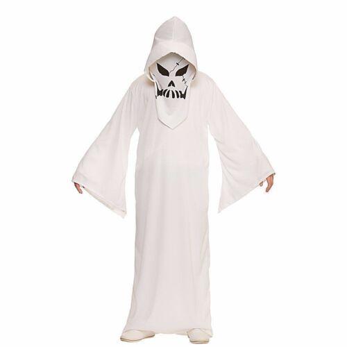 Child GHASTLY GHOST Spooky Halloween Boys Fancy Dress Costume Skeleton Kid Grim