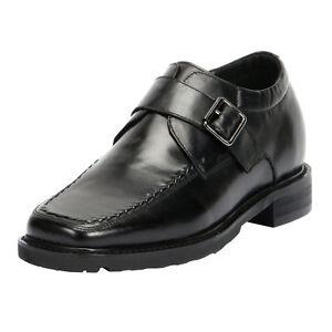 uomo Hidden Comfort Comfort Shoes cinturino 3 3 Heel Men's Strap a tacco Scarpe alto High con da invisibile xnUqvW87w0