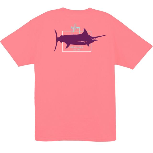 Guy Harvey Mens Logo Short Sleeve Crew T-Shirt