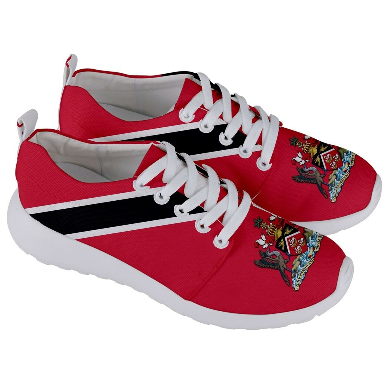 TRINIDAD &Tobago Trini Coat of arms Flag Men Women Running Sneaker shoes TRS