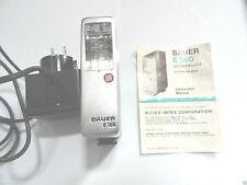 Vintage  Bauer E-160 Ultrablitz Electronic Camera Flash Unit W/Charger & Manuel