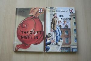 2-TWO-LADYBIRD-HARDBACK-BOOKS-THE-QUIET-NIGHT-IN-THE-HANGOVER