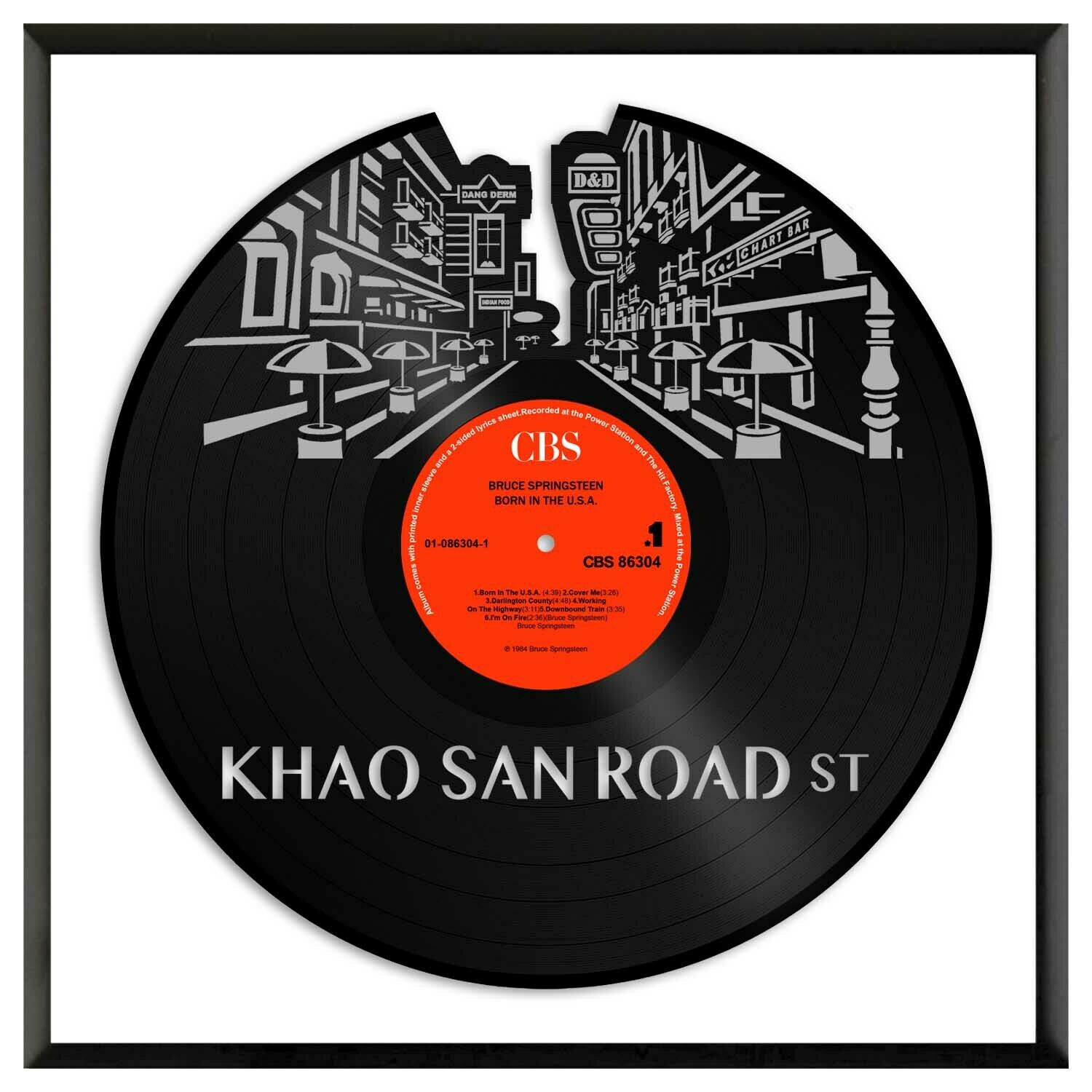 Khao San Road ST Vinyl Wall Art Exclusive Gift for Friends Home Decor Framed