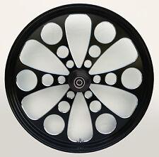 "Kool Kat ""Black Cut"" CNC 21"" x 3.5"" Front Wheel for Harley & Custom Models"