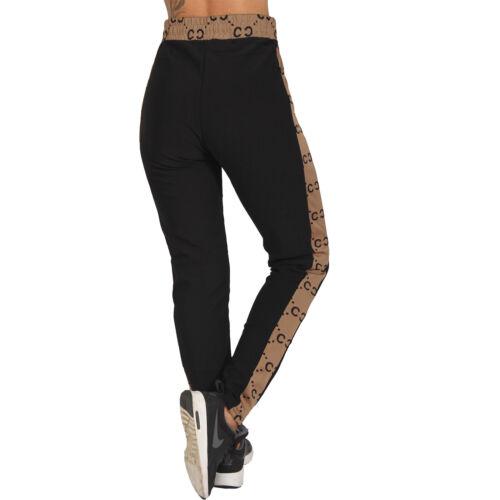 High Waist Jogging Pantalon rayures sur le côté Jogging Short Fitness 18050