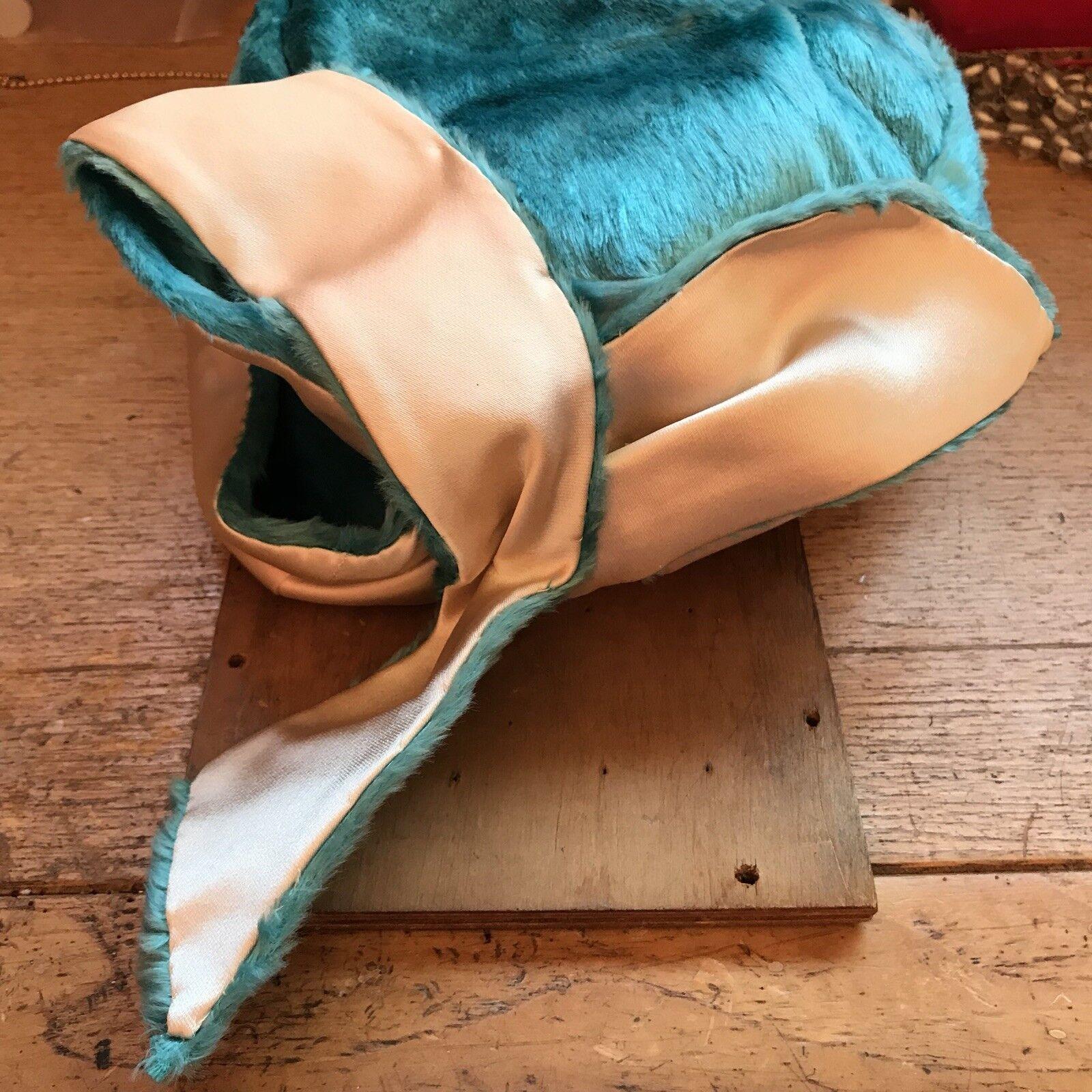 1950s Blue Velvet Hat- Structured Hat- 50s Hat- 5… - image 7