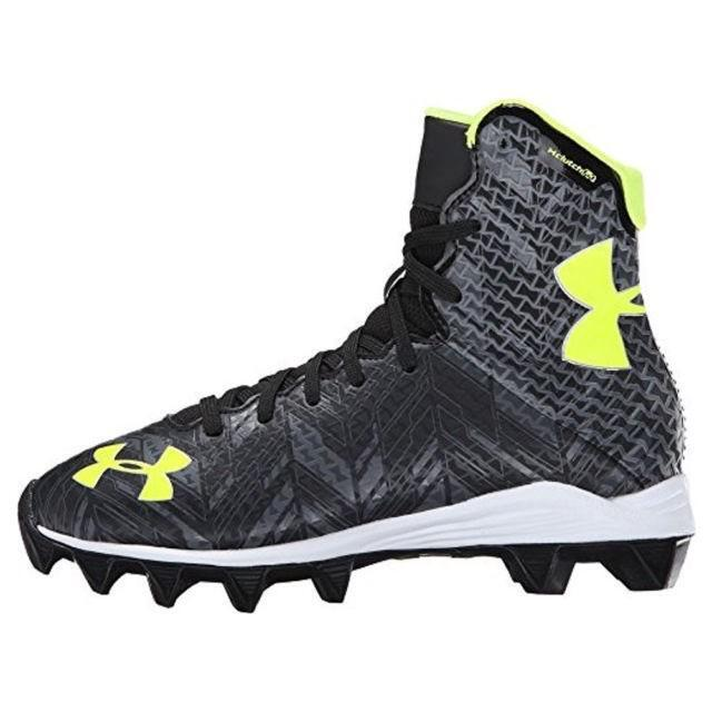 65da12373 Under Armour Lacrosse Lax Highlight RM Jr Black Graphite Youth Cleats 3y  for sale online