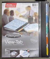 Brand New Wilson Jones 55365 View Tab Round Ring Presentation Binder 5 Tab 58