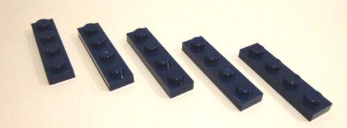 5 x LEGO® 3710 Basic 1x4 Noppen flach earthblue neu.