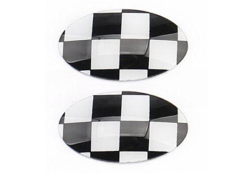 USA STOCK 2X Black Checkered Auto Gear Knob Badges MINI Cooper F54 F55 F57 F60