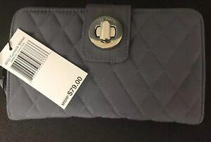 Vera-Bradley-RFID-Turnlock-Wallet-Carbon-Gray