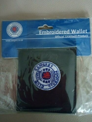 Rangers Embroidered Black Leather Wallet