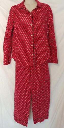 VICTORIA'S SECRET Red Penguin Pajama Set Cotton Fl