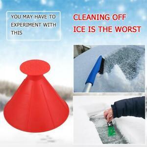 Cone Shaped Scrape Windshield Ice Scraper Funnel Car Snow Scraper Remover NIGH