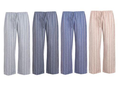 environ 66.04 cm Femmes Entièrement Taille Élastique Coupe Ample Pantalon entrejambe 26 in
