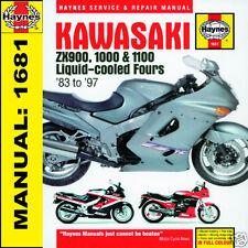 Kawasaki GPZ900 1000RX ZX10 ZZR1100 1983-1997 Haynes Manual 1681 NEW