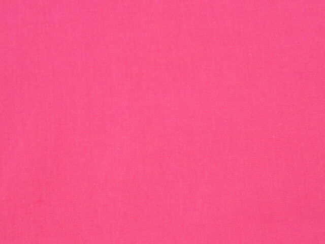 Exquisite Designer BRIGHT PINK Fine Poplin Cotton/Poly Medium Weight Fabric
