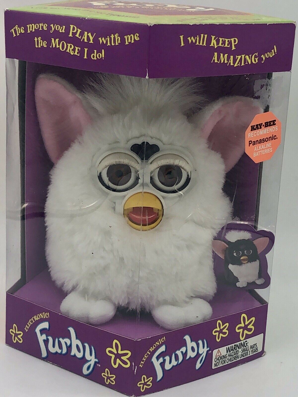 Furby Electronic  Modell 70-800 by Tiger Elictronics Rare Weiß Furby MIB 1998